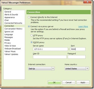 Yahoo_Messenger_Preferences_Connection_Optional